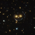 Hubble spots a galaxy cluster that is all smiles