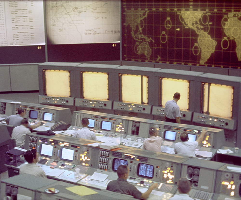 The Apollo Mission Control Center consoles are being fully restored!