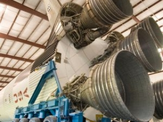 Saturn V rocket boosters