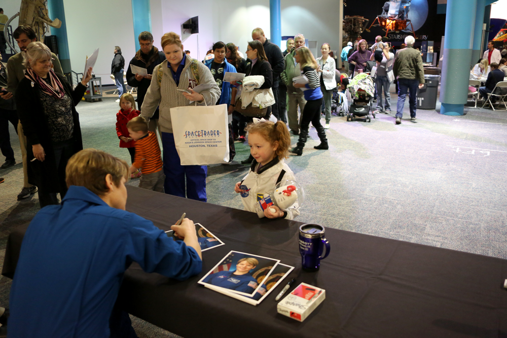 Guests got to meet astronauts and take home autographs at grand opening celebration