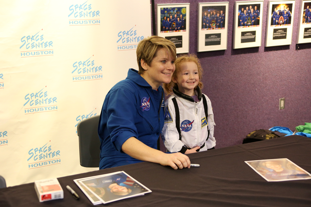 Guests took home astronaut autographs at Independence Plaza grand opening