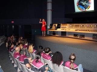 Students in Mission Briefing Center
