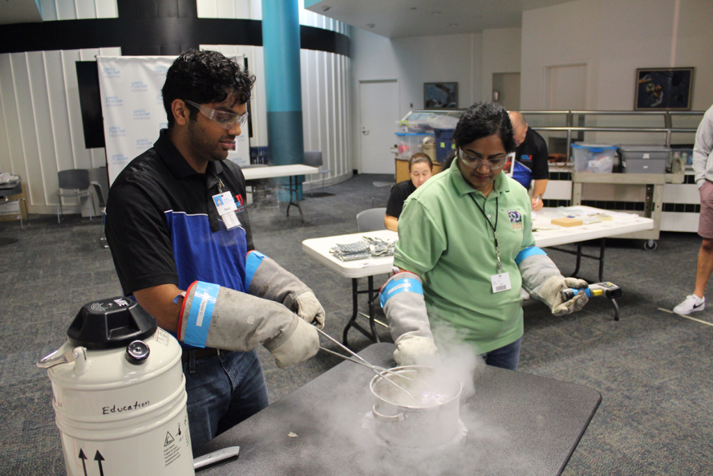 Learn about surviving in the extreme temperatures of space with a cryogenics test