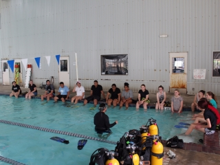Participants get briefed about their training exercise