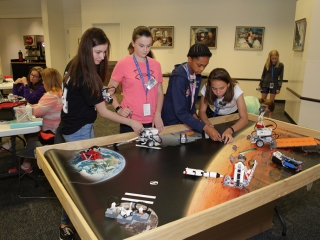 Students put their coding skills to the test with their roving robotics challenge