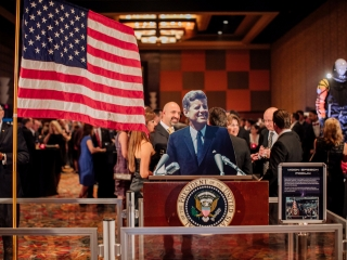 The Kennedy Podium is displayed at the 2017 Galaxy Gala.