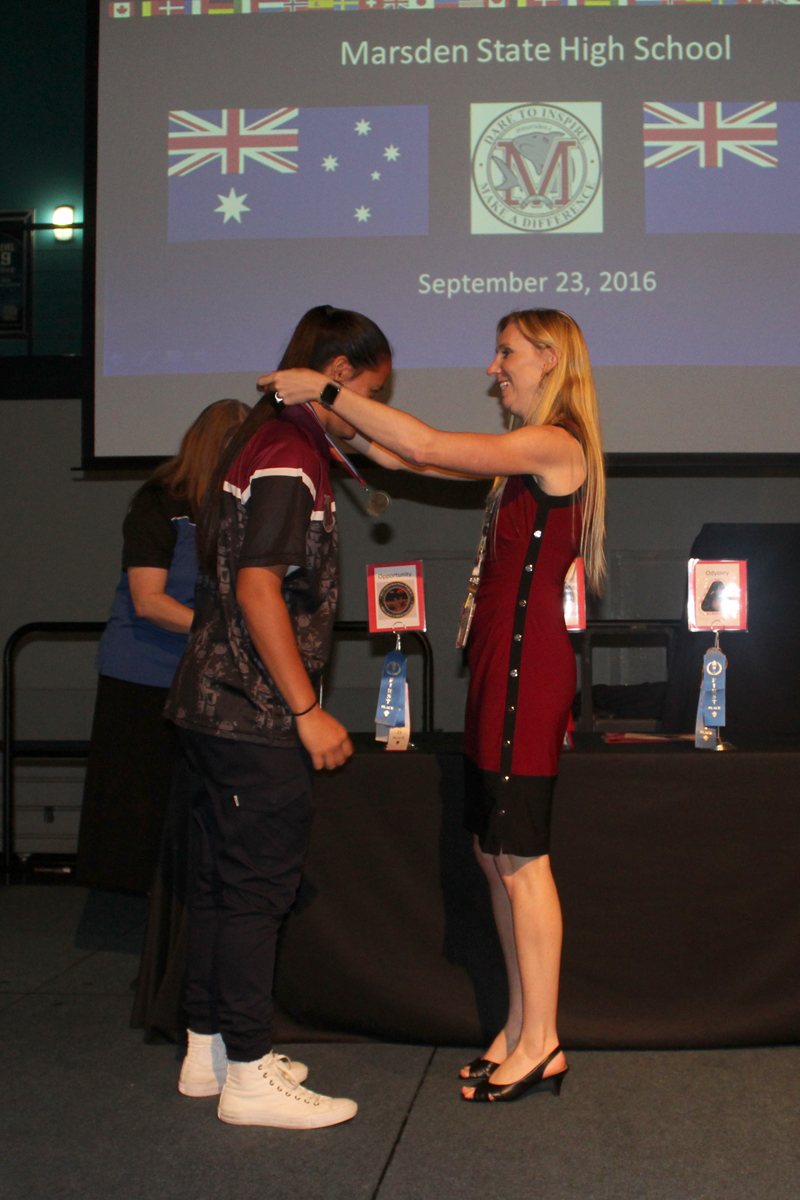 Medals handed out to participants