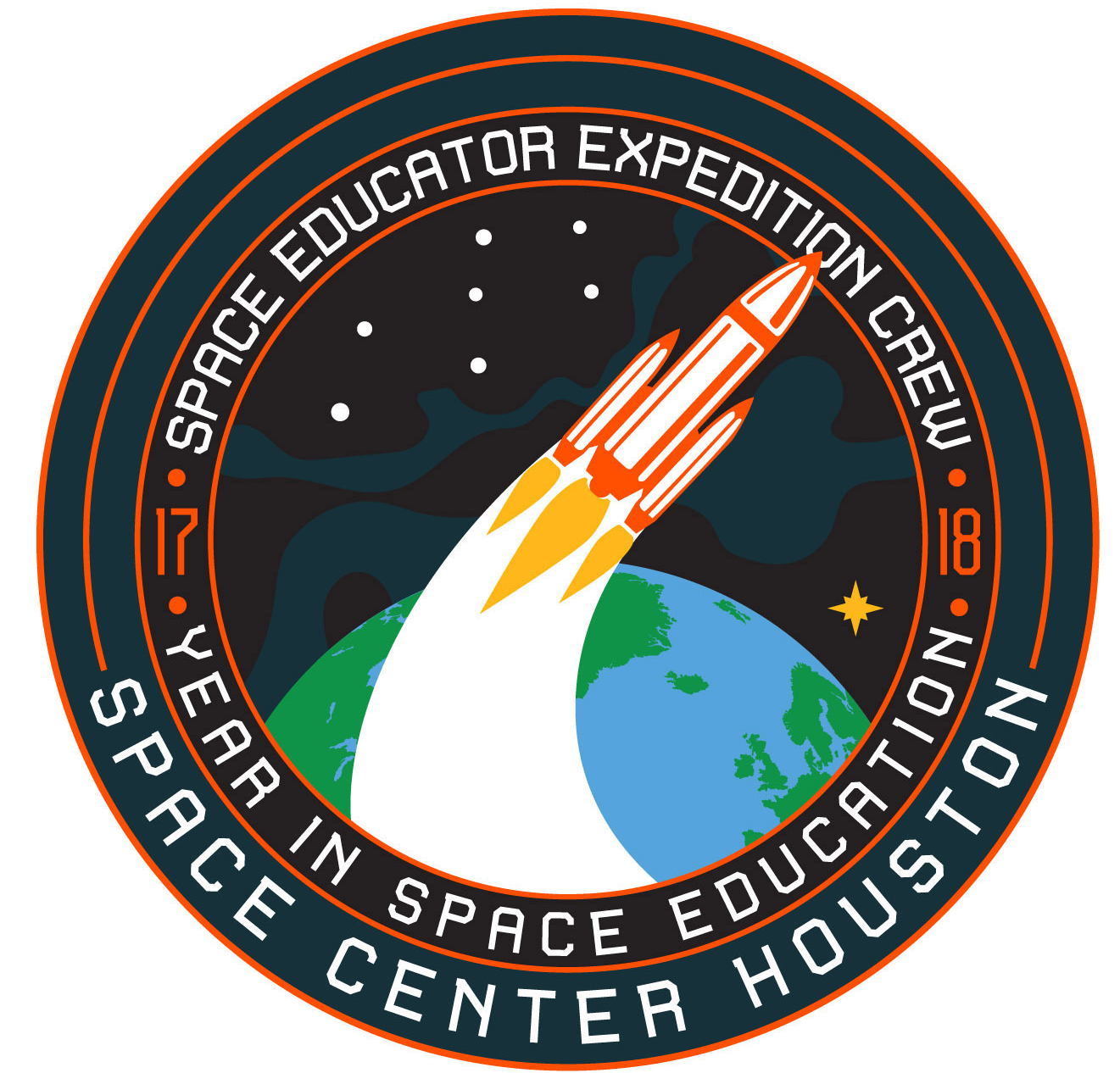 2017-2018 Space Educator Expedition Crew Logo