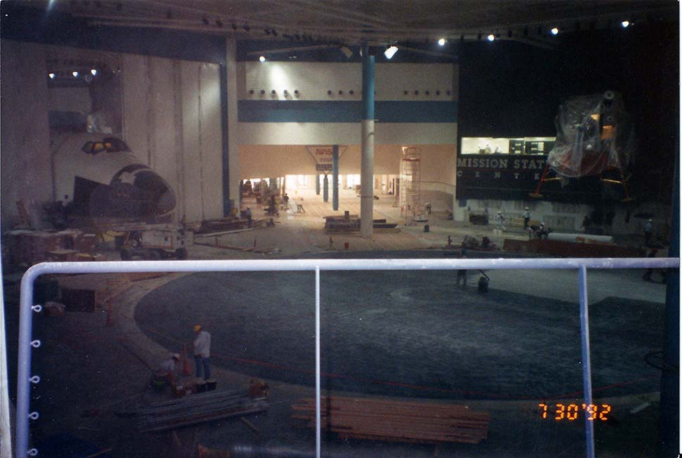 Space Center Houston comes to life, permanent exhibits are built