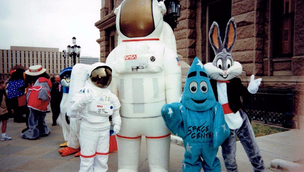 Space Center Houston mascots represent the center