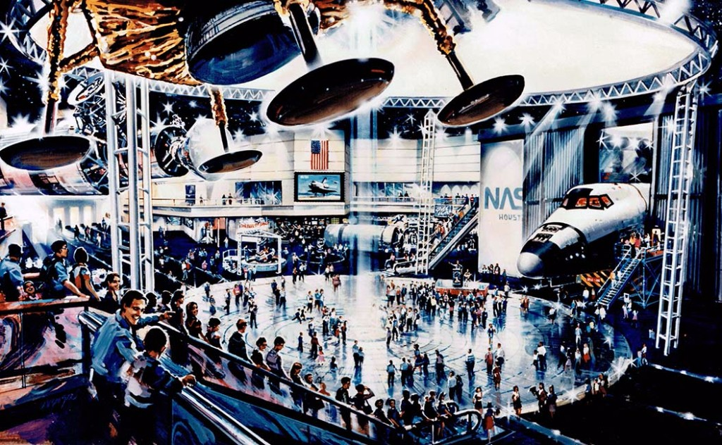Artistic rendering of the inside of Space Center Houston