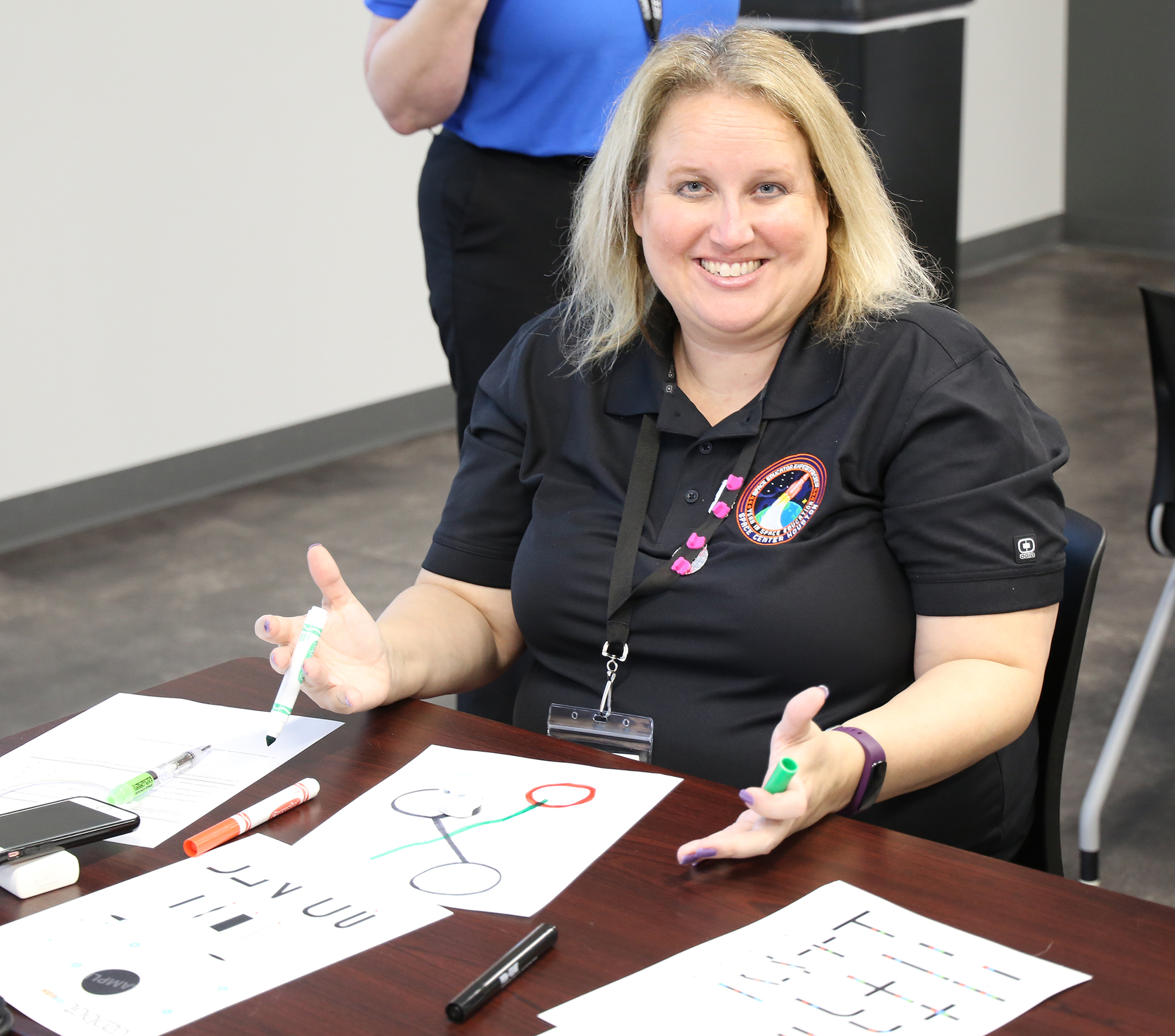 Jennifer Cheesman received the Cherri Brinley Outstanding Educator Award at the 24th Space Exploration Educators Conference.
