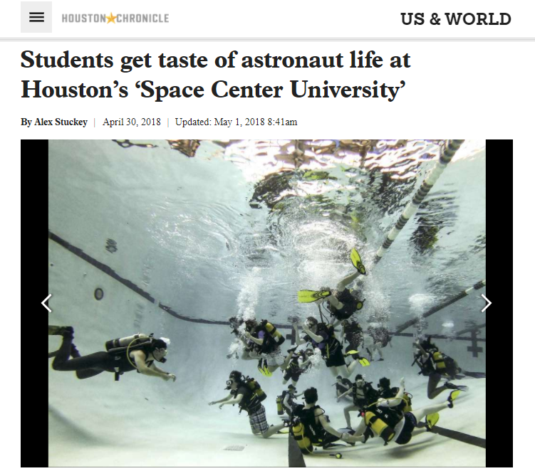 Houston Chronicle article about Space Center U