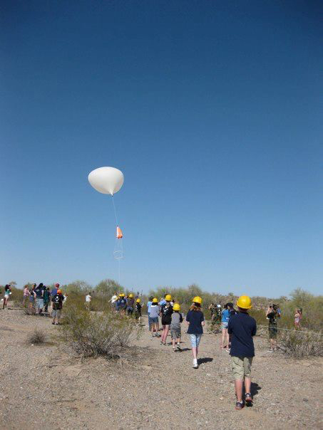 The balloon and experiments are deployed.