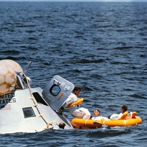 Water egress training in Gulf of Mexico for Apollo 7 mission