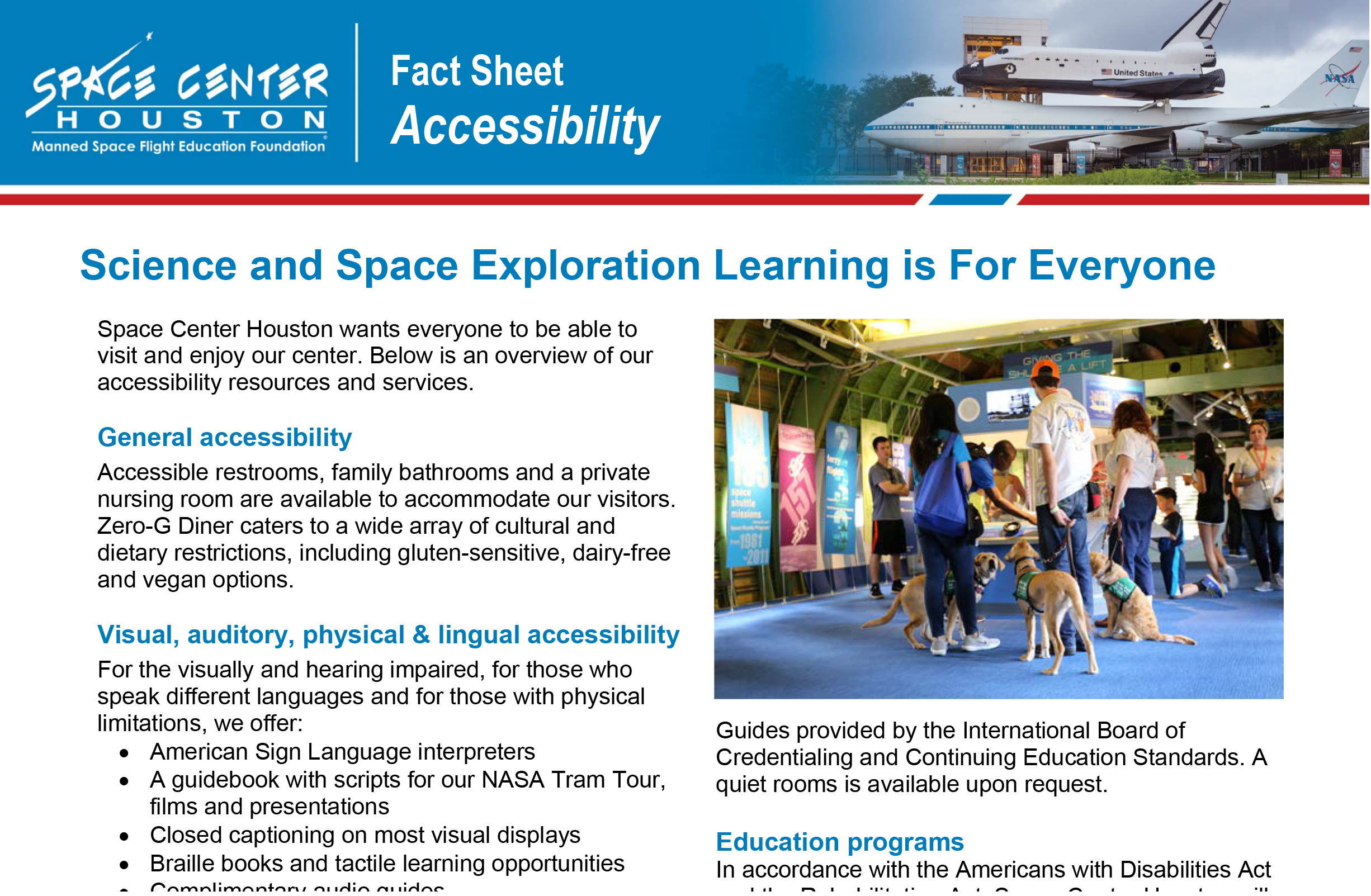 Accessibility Fact Sheet