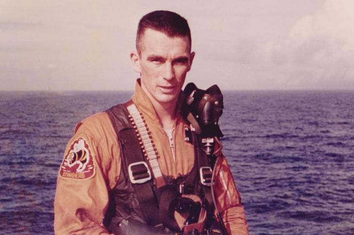 Eugene Cernan, the last man on the moon.
