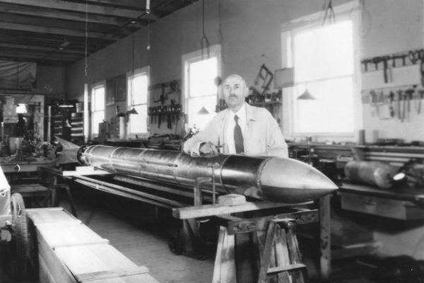 Goddard, father of modern rocketry