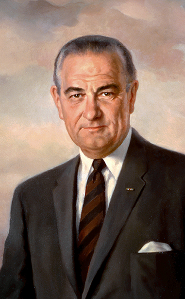 Presidential portrait of Lyndon B. Johnson, the namesake of Johnson Space Center