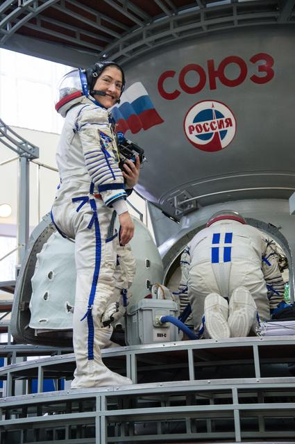 Christina Koch prepares for launch to the ISS as a part of Expedition 59 and 60