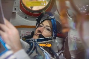 Christina Koch prepares for launch