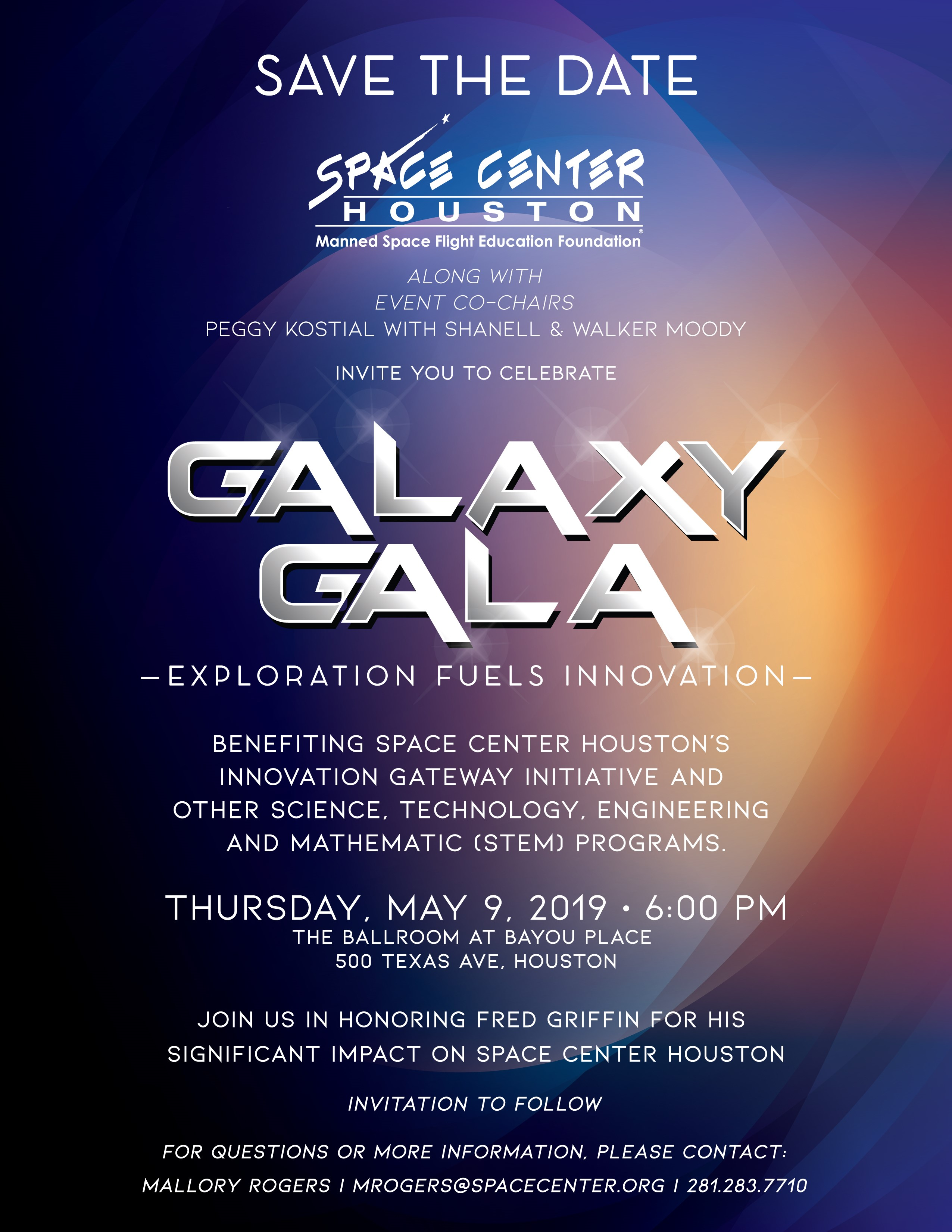 Space Center Houston's Galaxy Gala Set to Empower Youth