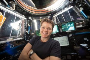 Anne McClain aboard the ISS