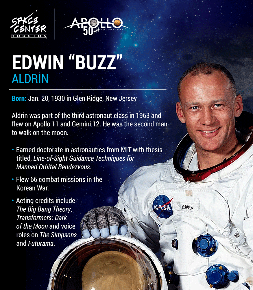 Buzz Aldrin Astronaut Facts Graphic