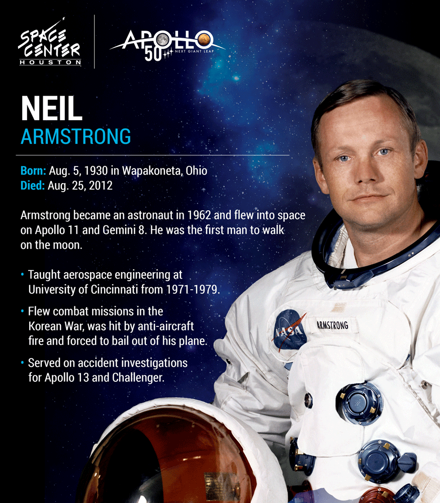 Neil Armstrong bio card