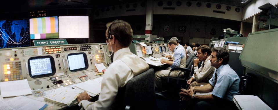 Mission Control Activities (MCC) - STS-1 Mission - JSC