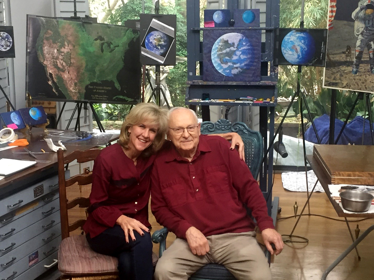 Amy Bean and her dad Apollo astronaut Alan Bean