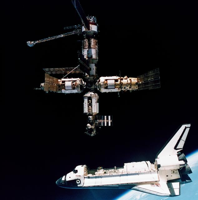 Atlantis and Mir STS-71