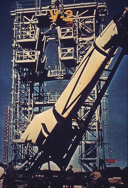 V-2 missile at White Sands Missile Range.