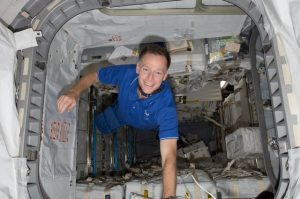 Astronaut Chris Ferguson in space