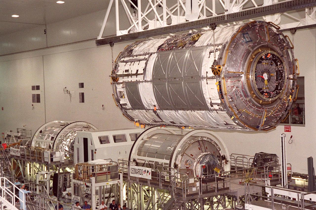 Space Station component in the Space Station Processing Facility