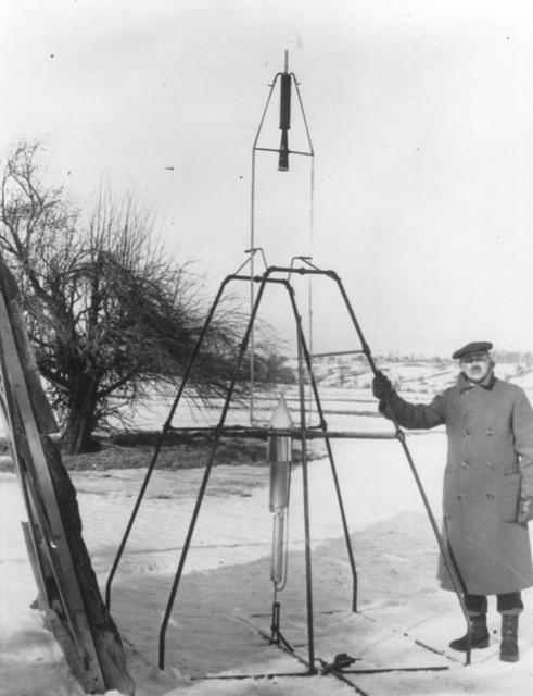 Goddard and the first liquid fuel rocket