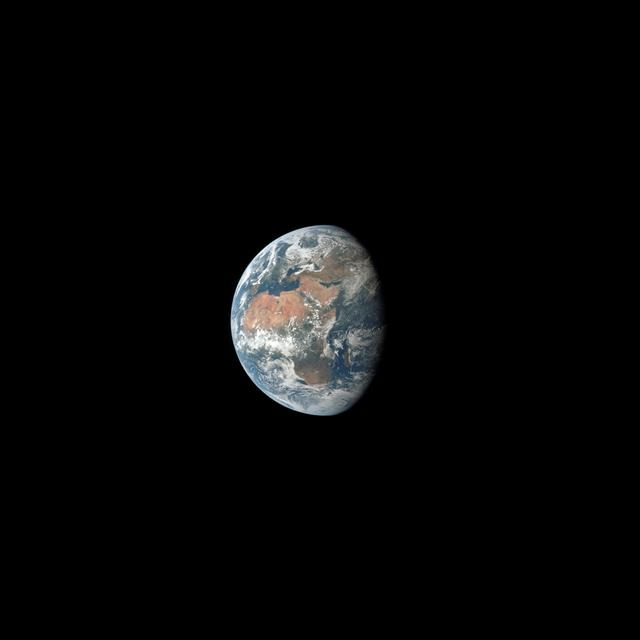 A view of the Earth taken by the crew of Apollo 11.