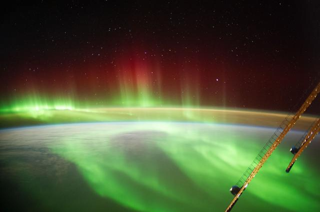 Earth observation of an aurora taken by the crew of Expediton 40 onboard the ISS.