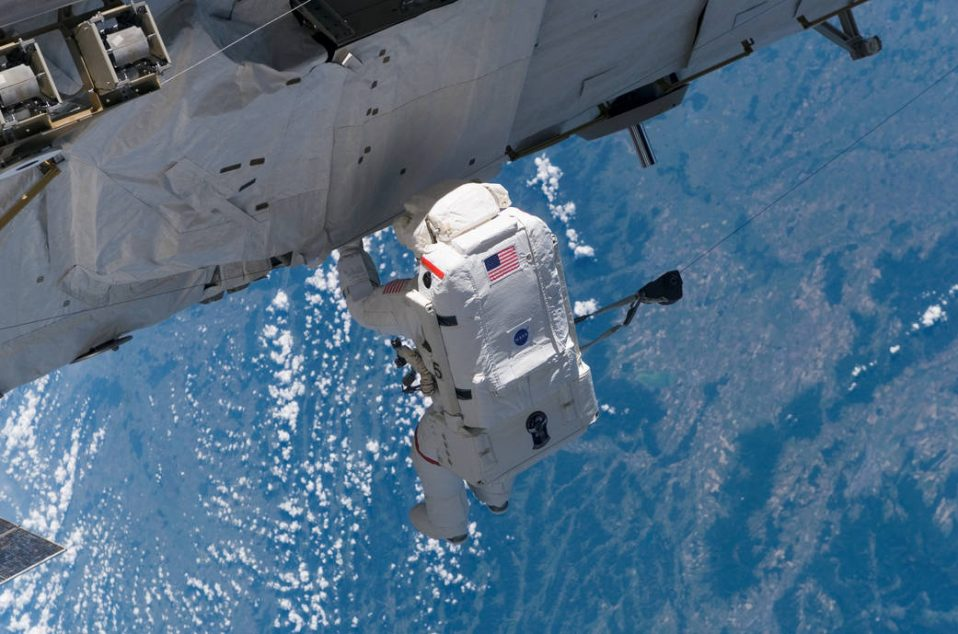 Expedition 13 and STS-115 crewmembers worked as a team to attach the P3/P4 truss to the ISS