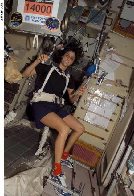 Sunita Williams runs Boston Marathon while in orbit