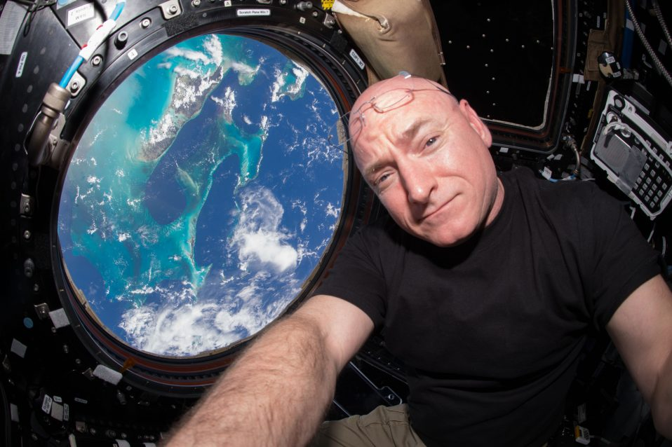 NASA astronaut Scott Kelly in the ISS Cupola