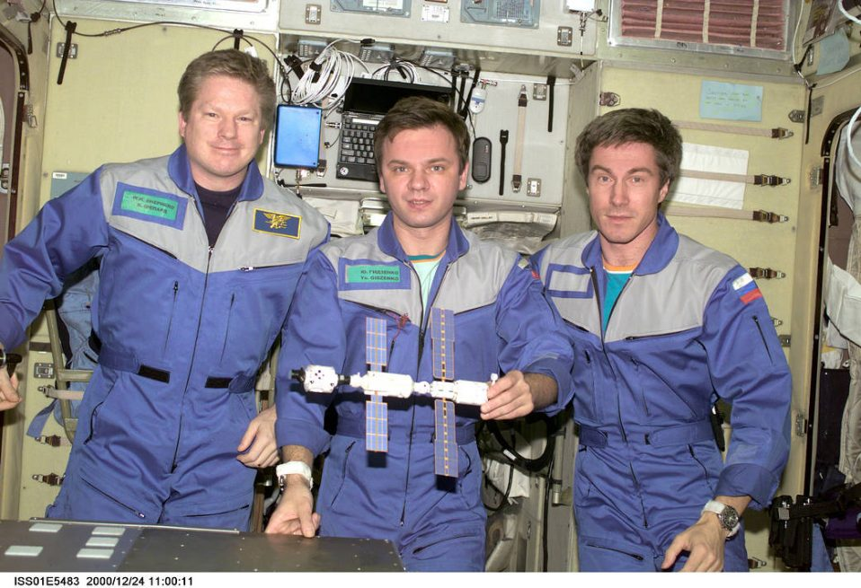 The crew of Expedition 1, the first long-duration ISS mission