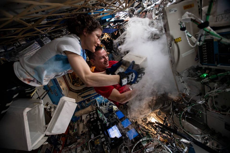 Stowing away biological research samples onboard the ISS