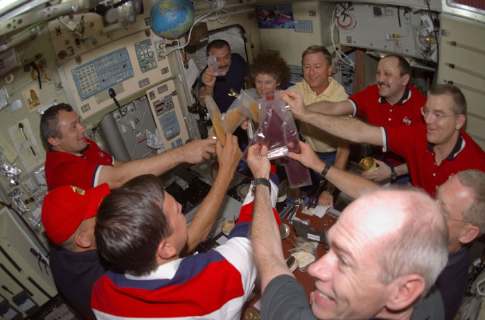 A toast onboard the ISS