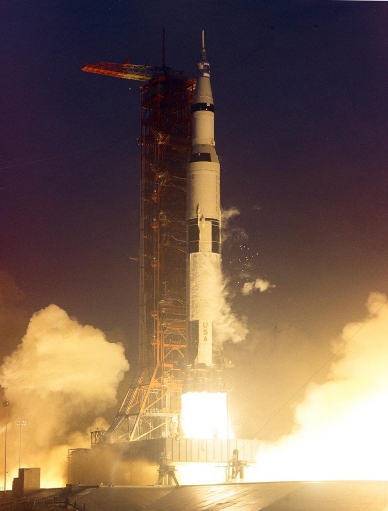 Liftoff of the Apollo 12 on November 14, 1969.