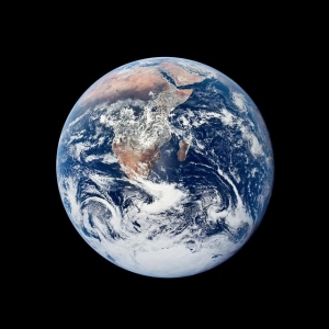 Photograph of the Earth was taken by the Apollo 17 crew as they traveled toward the Moon