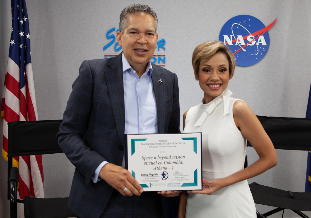 Space Center Houston Provides Girls in Colombia with Science Learning and Leadership Skills